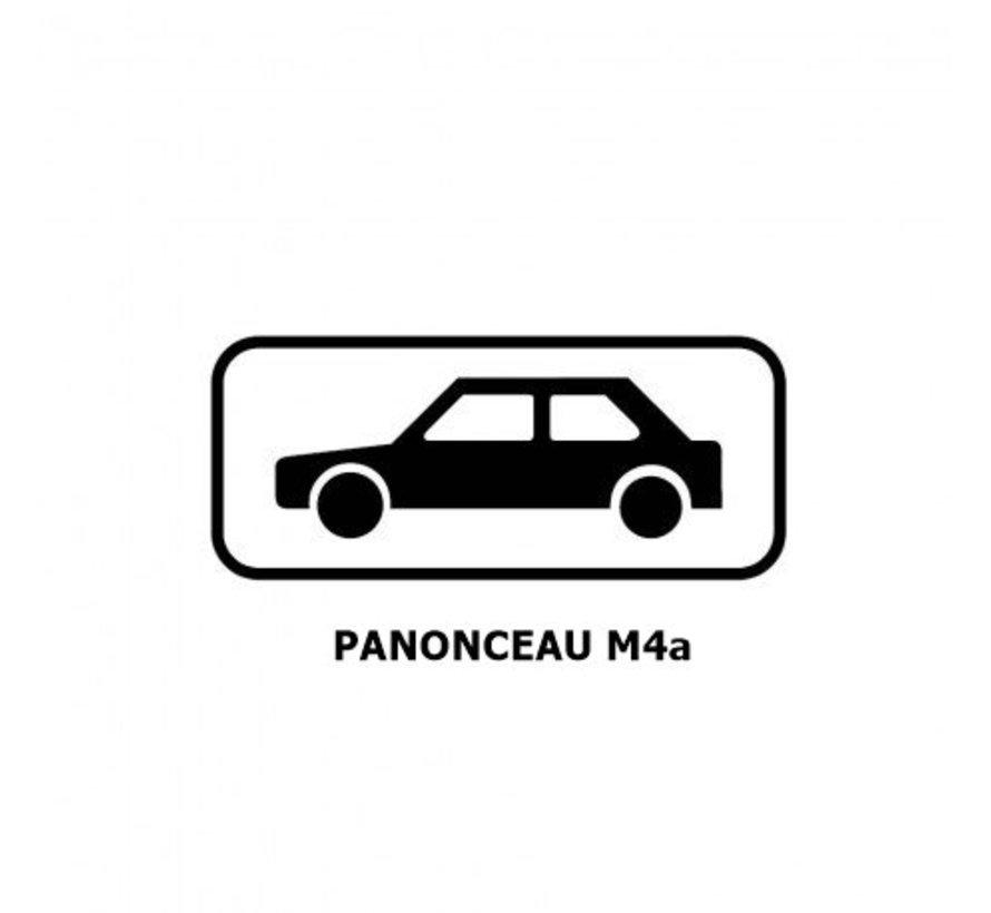 Panonceau M4a (pour panneau rond)