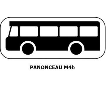 Panonceau M4b (pour panneau rond)