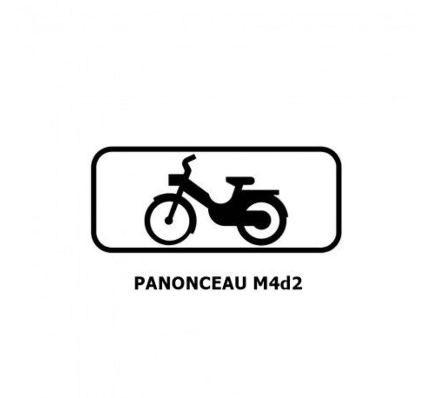 Panonceau M4d2 (pour panneau rond )