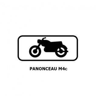 Panonceau M4c (pour panneau rond)