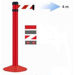 Poteau acier rouge à sangle 4 m