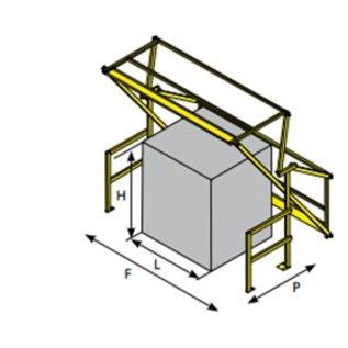 Barrière écluse - SAS A VOLET V165 : pour une hauteur de palette maximum de 1650 mm
