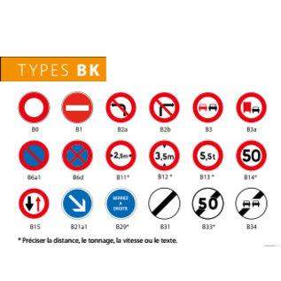 Panneau Type BK sur pied mobile
