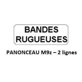 Panonceau M9z - 2 lignes (pour panneau triangle)