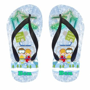 Wintersport slippers met naam