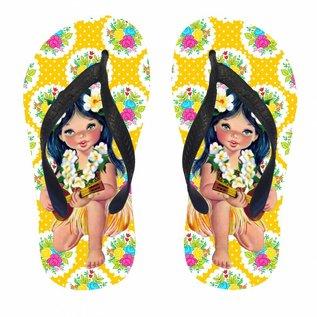 Slippers hula meisje