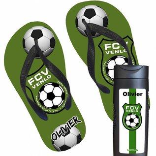 Slippers met het logo van je sportclub