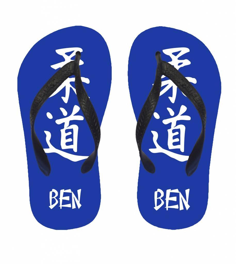 slippers judo bedrukte toffe slippers gepersonaliseerd