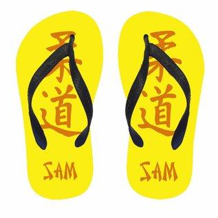 Slippers judo met naam