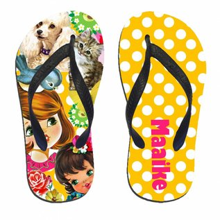 Slippers girly dots