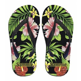 Slippers hawaiian flowers