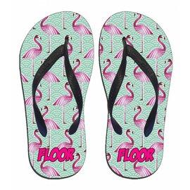 Flamingo slipper met naam