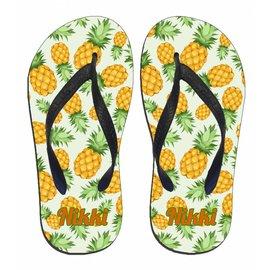 Ananas slipper met naam