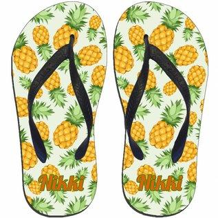 Ananas slipper bedrukt met naam