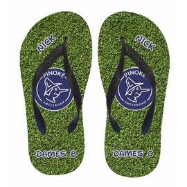 Slippers gras met logo van je favoriete club