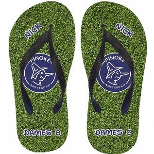 Slippers gras met logo van je favoriete club en je naam