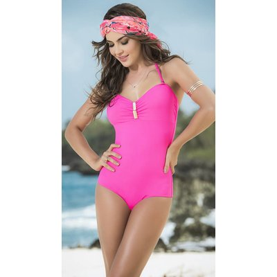 Espiral Hot pink glamour monokini