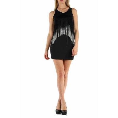 Mini jurk zwart wit