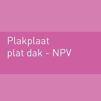Plakplaat voor plat dak NPV