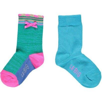 Le Big Sokken gemeleerd groen/blauw Le Big