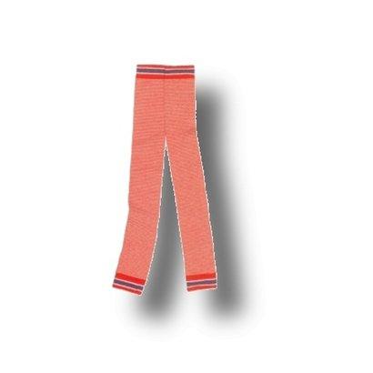 Mim-Pi Gestreepte orange/witte legging Mim-Pi