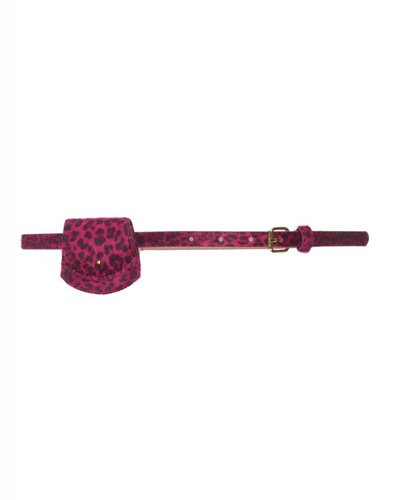 Le Big Roze Leopard riem met tasje