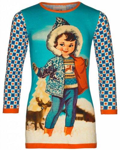 Mim-Pi Doll dress blauw Mim Pi