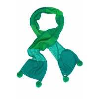 Mim-Pi Groene sjaal met pompons Mim-Pi