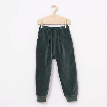 Mimimono Fluwelen baggy broek groen  Minimono