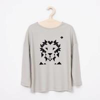 Mimimono Grijze t-shirt Minimono