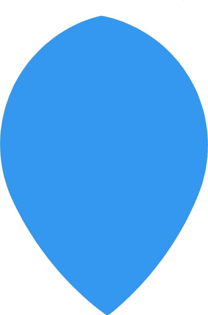 """Bull's POLYNA Plain Pear Flight """"Blue"""""""
