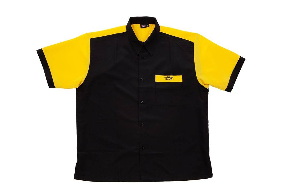 Bull's Dartshirt BLACK - YELLOW