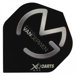 XQ-Max Darts Michael van Gerwen Flight Black and Silver