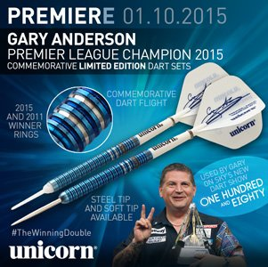 Dartpijlen – Unicorn Gary Anderson – Limited Edition