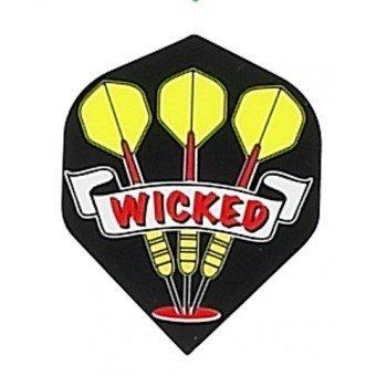 Ruthless dart flights van 100 micron, per set van 3 flights
