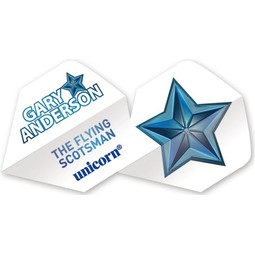 Unicorn Darts Authentic 100 Big Wing - Gary Anderson Blue Star