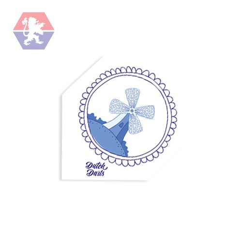 Dutch Darts Flight Blue Windmill