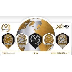 XQ-Max Darts Michael van Gerwen World Champion 5 pack Flights