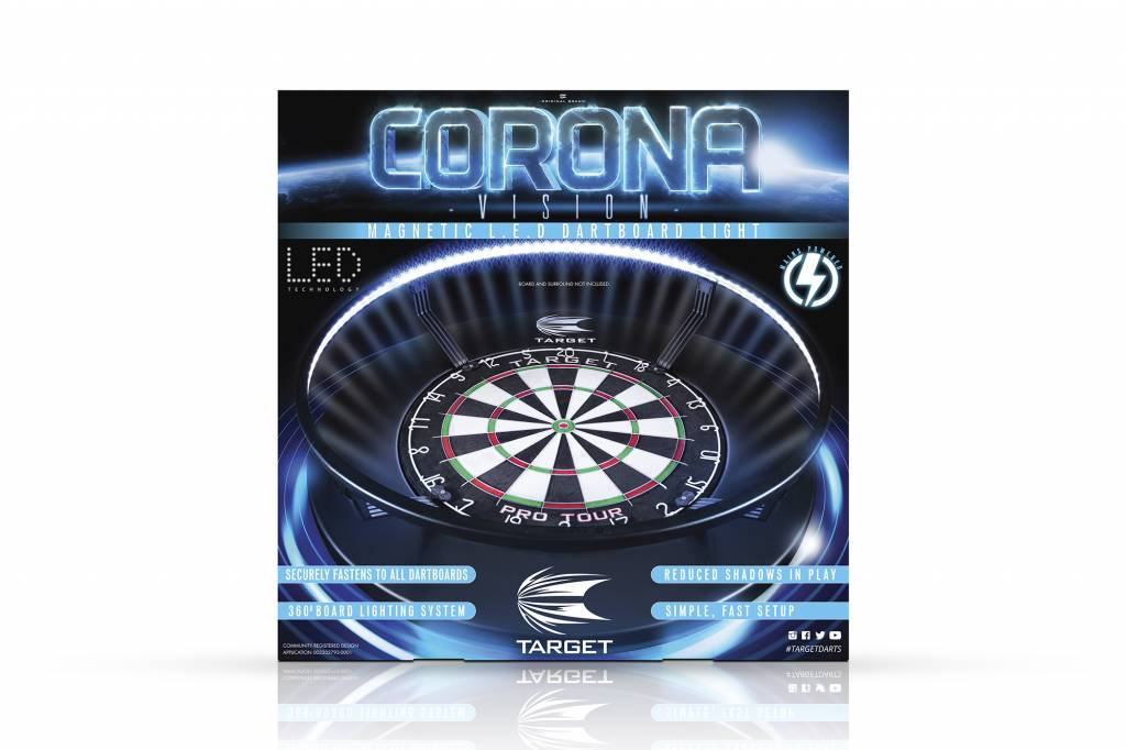 Dartbord Met Kast : Target corona dartbord verlichting dartdiscounter