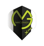 XQ-Max Darts Michael van Gerwen  white-black, grey dots