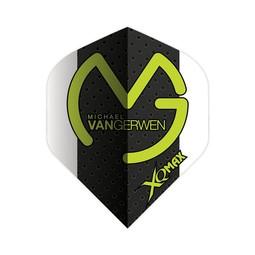 XQ-Max Darts Michael van Gerwen  white-black, grey dots