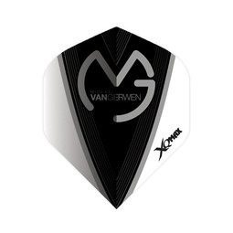 XQ-Max Darts Michael van Gerwen flight black and white