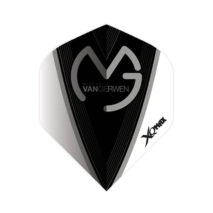 XQ-Max Darts Michael van Gerwen flight black and white