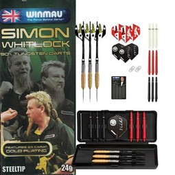 Winmau Darts Simon Whitlock 90% T - Gold Plated Dart-Set
