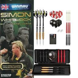 Winmau Darts - Simon Whitlock Gold Plated Dart-Set
