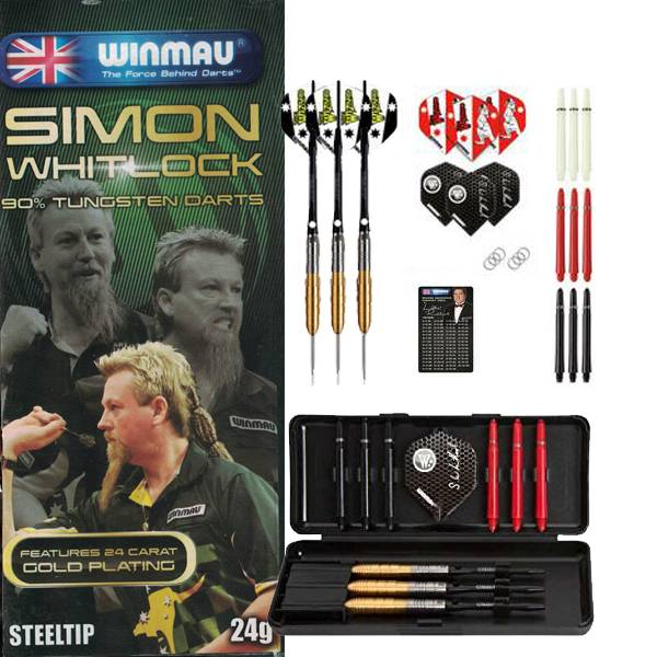 Winmau Darts 90% Tungsten set - Simon Whitlock -  Gold Plated Dart
