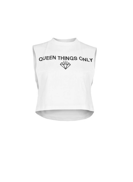LA SISTERS Queen Crop Top