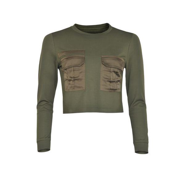 LA SISTERS Pocket Sweater Army