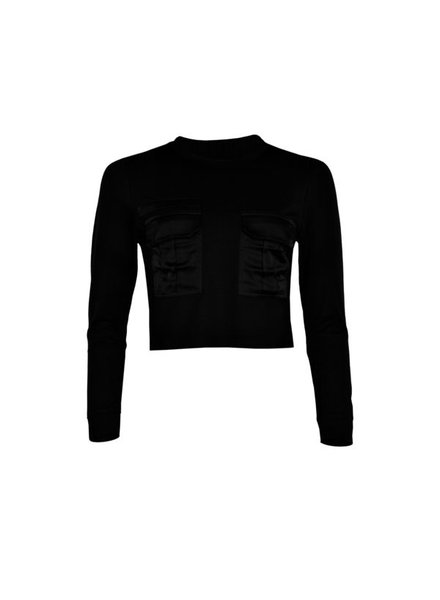 LA SISTERS Pocket Sweater Black
