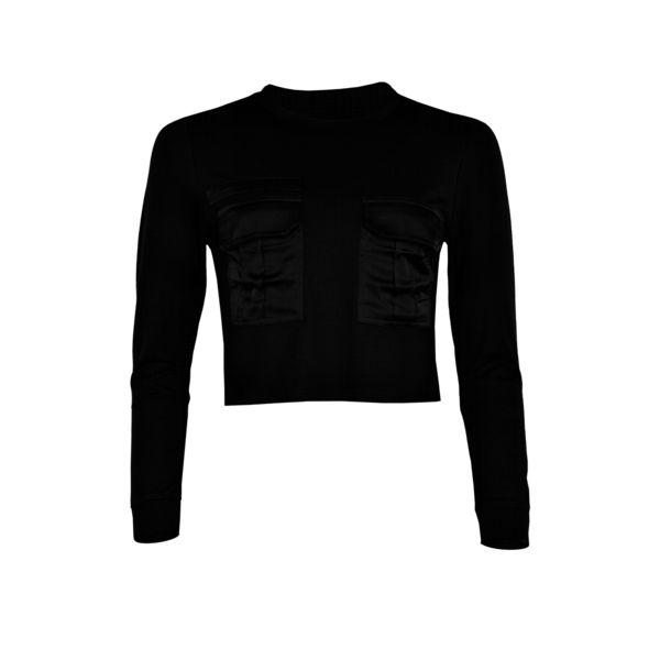 LA SISTERS Pocket Sweater Black